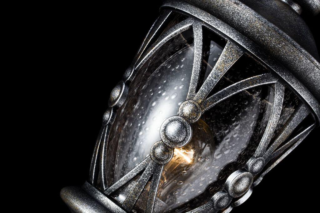 Садово-парковый светильник Maytoni Rua Augusta S103-59-31-B, IP44, 1xE27x60W, черненое серебро, прозрачный, металл, стекло - фото 6