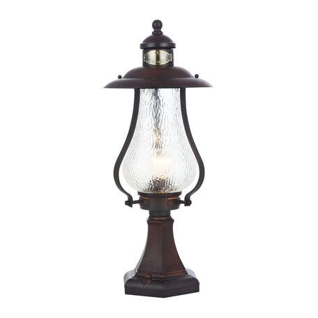 Садово-парковый светильник Maytoni La Rambla S104-59-31-R, IP44, 1xE27x60W, коричневый, прозрачный, металл, металл со стеклом, стекло с металлом