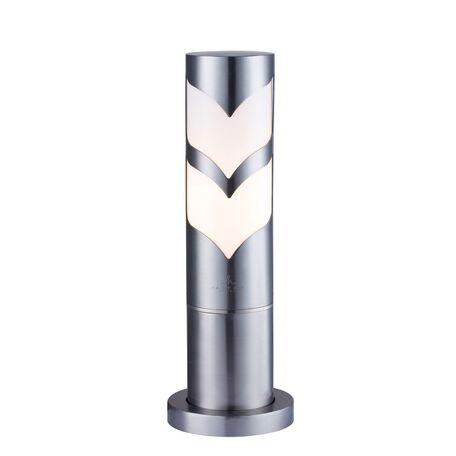Садово-парковый светильник Maytoni Fifth Avenue S710-37-31-N, IP44, 1xE27x11W, белый, никель, металл с пластиком, пластик