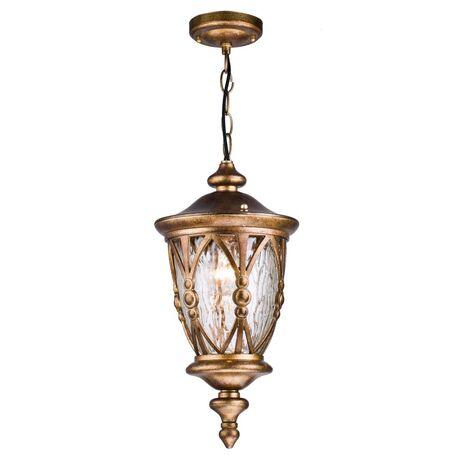 Подвесной светильник Maytoni Rua Augusta S103-44-41-R, IP44, 1xE27x60W, медь, матовое золото, прозрачный, металл, стекло