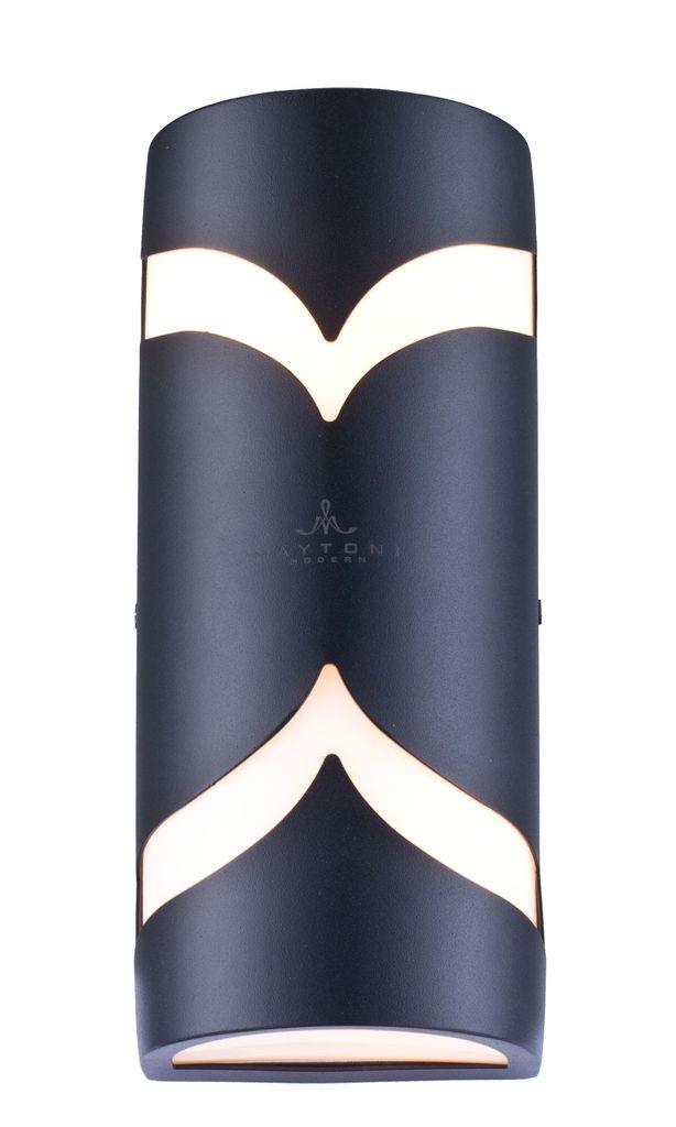 Настенный светильник Maytoni Fifth Avenue S710-25-02-B, IP44, 2xE14x11W, черный, металл, пластик - фото 1