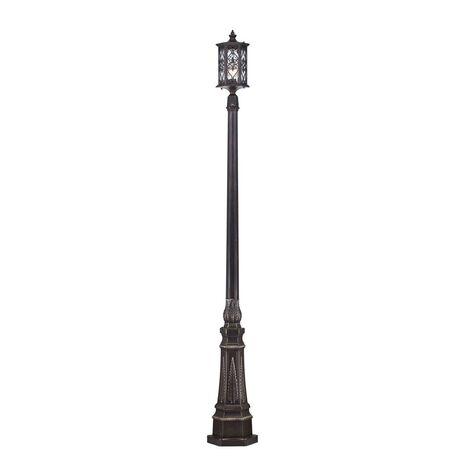 Уличный фонарь Maytoni Canal Grande S102-220-61-R, IP44, 1xE27x100W, черный с золотой патиной, прозрачный, металл, стекло