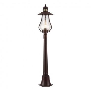 Уличный фонарь Maytoni La Rambla S104-119-51-R, IP44, 1xE27x100W, коричневый, прозрачный, металл, стекло