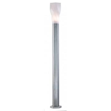 Уличный фонарь Maytoni Orchard Road S106-120-61-N, IP44, 1xE27x11W, белый, никель, металл, пластик