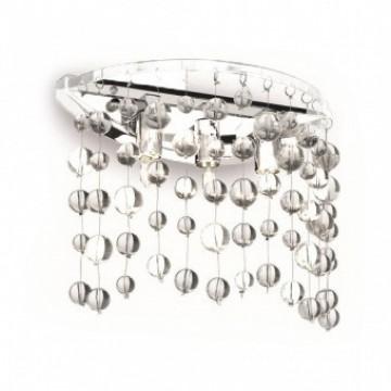 Бра Ideal Lux NEVE AP3 BIANCO 106021, 3xG9x40W, белый, прозрачный, металл, стекло