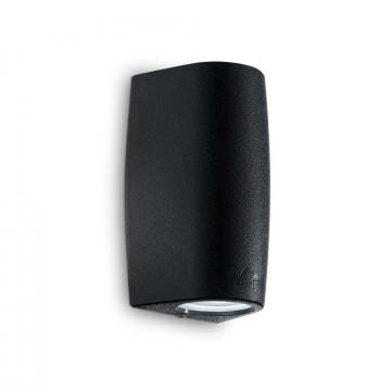 Настенный светильник Ideal Lux KEOPE AP2 SMALL NERO 147819, IP55, 2xGU10x6W, черный, пластик