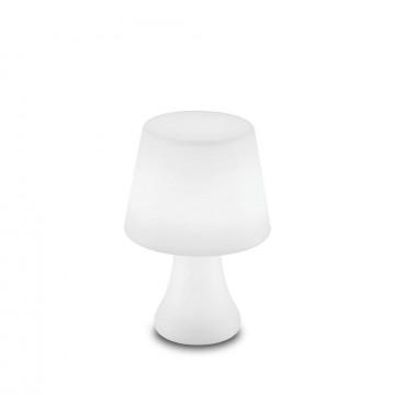 Настольная светодиодная лампа Ideal Lux LIVE TL1 LUMETTO 138886, IP65, LED 2,5W 4000K + RGB 10lm, белый, пластик
