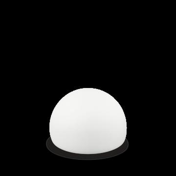 Садовый светодиодный светильник Ideal Lux LIVE TL1 SFERA 138800, IP65, LED 2,5W, 4000K/RGB (дневной), белый, пластик
