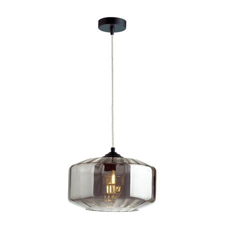 Подвесной светильник Odeon Light Pendant Binga 4746/1, 1xE27x60W, черный, дымчатый, металл, стекло