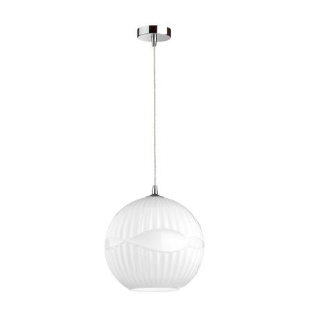 Подвесной светильник Odeon Light Pendant Astea 4749/1, 1xE27x60W, хром, белый, металл, стекло