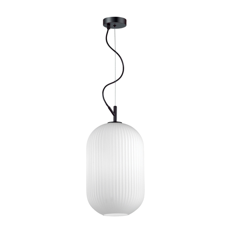 Подвесной светильник Odeon Light Pendant Roofi 4752/1, 1xE27x60W, черный, белый, металл, стекло