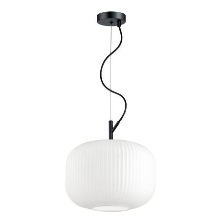 Подвесной светильник Odeon Light Pendant Roofi 4754/1, 1xE27x60W, черный, белый, металл, стекло