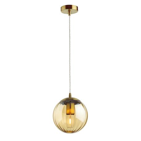 Подвесной светильник Odeon Light Pendant Kata 4758/1, 1xE27x60W, бронза, янтарь, металл, стекло