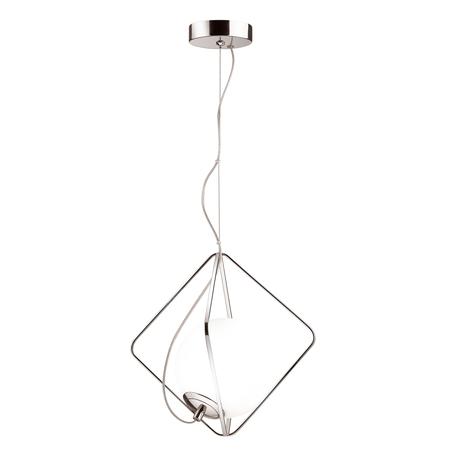 Подвесной светильник Odeon Light Pekti 4764/1, 1xE14x40W, хром, белый, металл, металл со стеклом