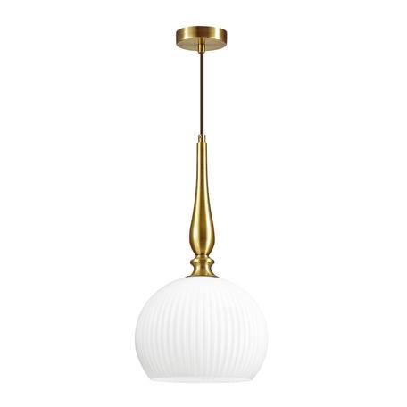 Подвесной светильник Odeon Light Pendant Runga 4766/1, 1xE27x60W, бронза, белый, металл, стекло