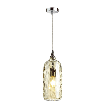 Подвесной светильник Odeon Light Pendant Sitora 4768/1, 1xE27x60W, хром, коньячный, металл, стекло