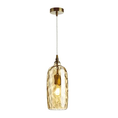 Подвесной светильник Odeon Light Pendant Sitora 4769/1, 1xE27x60W, бронза, янтарь, металл, стекло