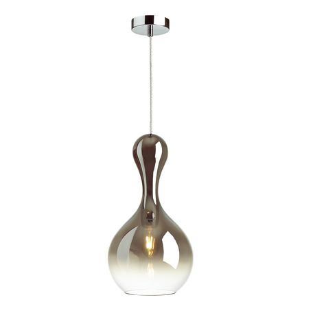 Подвесной светильник Odeon Light Pendant Karti 4776/1, 1xE27x60W, хром, дымчатый, металл, стекло