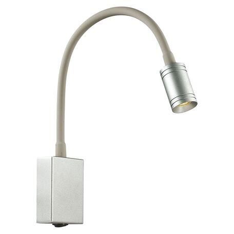 Настенный светодиодный светильник Favourite Murum 1959-1W, LED 3W 3000K, серый, серебро, металл