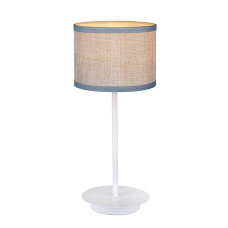 Настольная лампа Favourite Essentia 2002-1T, 1xE27x40W, белый, бежевый, металл, текстиль