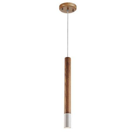 Подвесной светильник Favourite Pendenti 2014-1P, 1xG9x5W, коричневый, металл, дерево