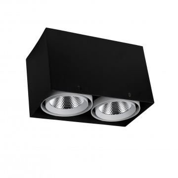 Потолочный светодиодный светильник Favourite FlashLED 1987-2U, 4000K (дневной), черный, белый, металл