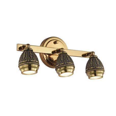 Потолочный светильник с регулировкой направления света Favourite Sorento 1586-3W, 3xGU10x5W, золото, черненое золото, металл