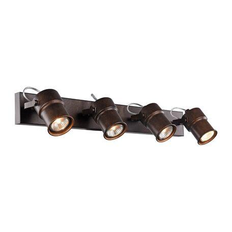 Потолочный светильник с регулировкой направления света Favourite Arcu 2025-4W, 4xGU10x5W, коричневый, металл
