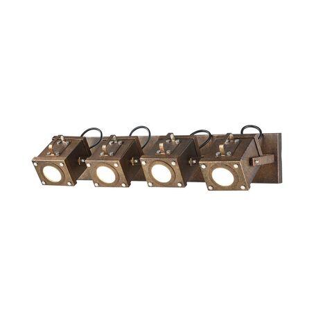 Потолочный светильник с регулировкой направления света Favourite Foco 2037-4W, 4xGU10x5W, коричневый, металл, пластик