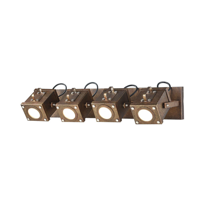 Потолочный светильник с регулировкой направления света Favourite Foco 2037-4W, 4xGU10x5W, коричневый, металл, пластик - фото 1