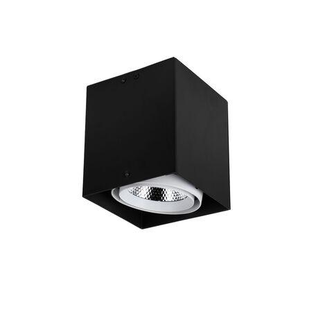 Потолочный светодиодный светильник Favourite FlashLED 1987-1U, LED 12W 4000K CRI>80, черный, белый, металл