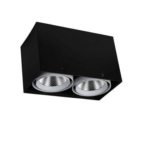 Потолочный светодиодный светильник Favourite FlashLED 1987-2U, LED 24W 4000K CRI>80, черный, белый, металл