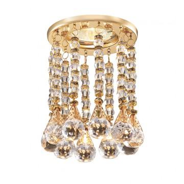 Встраиваемый светильник Novotech 369786 Ritz, золото, прозрачный