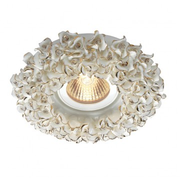 Встраиваемый светильник Novotech Farfor 369949, 1xGU5.3x50W, золото, керамика