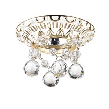Встраиваемый светильник Novotech Grape 369997, 1xGU5.3x50W, белый, золото, прозрачный, металл, хрусталь