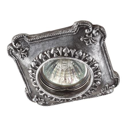 Встраиваемый светильник Novotech Pattern 370085, 1xGU5.3x50W, черненое серебро, песчаник