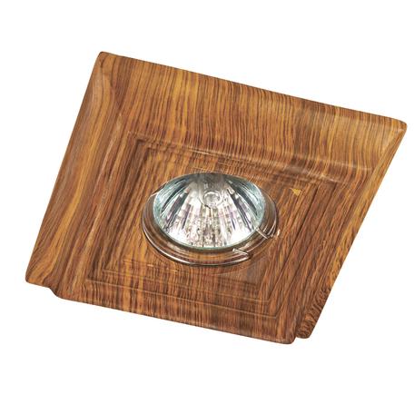 Встраиваемый светильник Novotech Pattern 370090, 1xGU5.3x50W, коричневый, песчаник