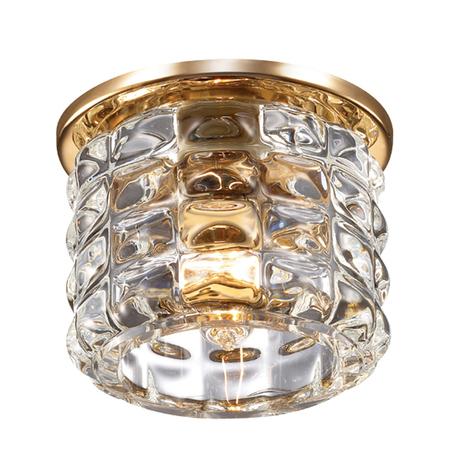 Встраиваемый светильник Novotech Arctica 369724, 1xG9x40W, золото, прозрачный, металл, хрусталь
