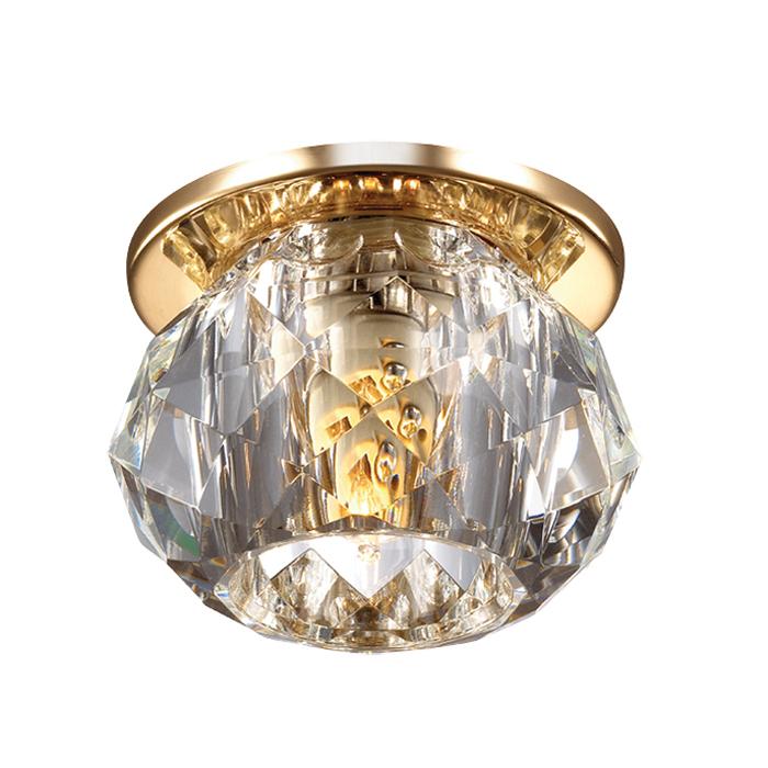 Встраиваемый светильник Novotech Spot Arctica 369726, 1xG9x40W, золото, прозрачный, металл, хрусталь - фото 1