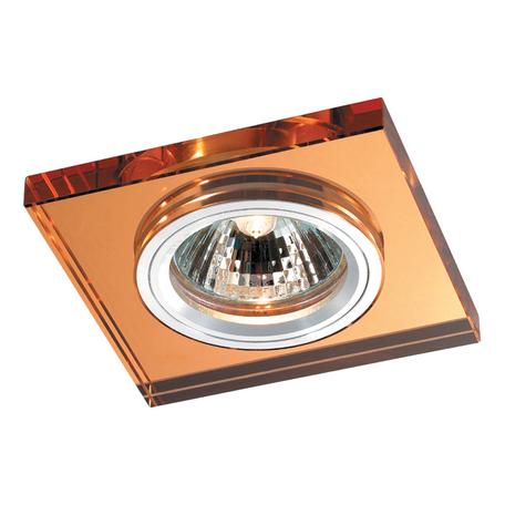 Встраиваемый светильник Novotech Mirror 369754, 1xGU5.3x50W, янтарь, металл, хрусталь