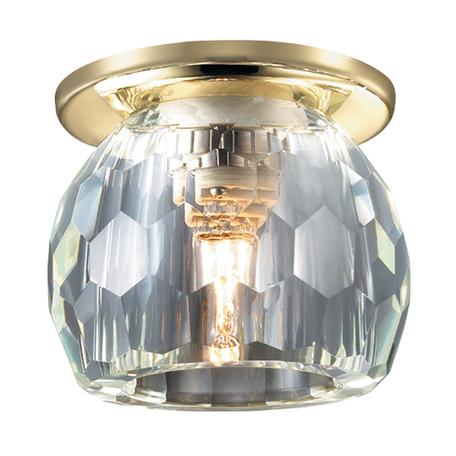 Встраиваемый светильник Novotech Dew 369800, 1xG9x40W, металл, хрусталь