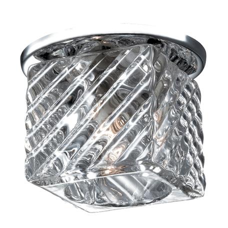 Встраиваемый светильник Novotech Nord 369802, 1xG9x40W, хром, прозрачный, металл, хрусталь