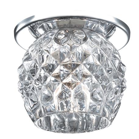 Встраиваемый светильник Novotech Spot Nord 369803, 1xG9x40W, хром, прозрачный, металл, хрусталь