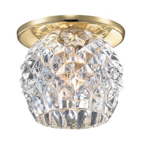 Встраиваемый светильник Novotech Spot Nord 369804, 1xG9x40W, золото, прозрачный, металл, хрусталь - миниатюра 1