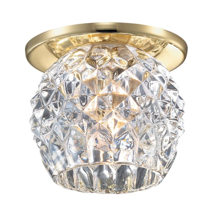 Встраиваемый светильник Novotech Spot Nord 369804, 1xG9x40W, золото, прозрачный, металл, хрусталь - фото 1