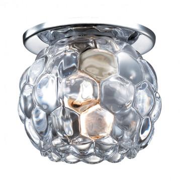 Встраиваемый светильник Novotech Spot Nord 369806, 1xG9x40W, хром, прозрачный, металл, хрусталь