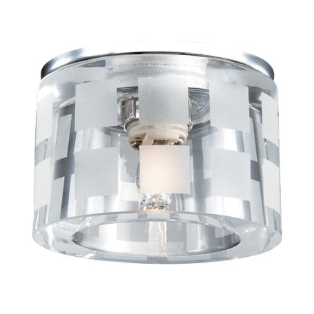 Встраиваемый светильник Novotech Spot Nord 369808, 1xG9x40W, хром, белый, металл, хрусталь