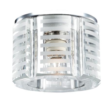 Встраиваемый светильник Novotech Nord 369809, 1xG9x40W, хром, матовый, прозрачный, металл, хрусталь