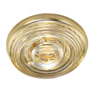 Встраиваемый светильник Novotech Aqua 369814, IP65, 1xGU5.3x50W, золото, прозрачный, металл, стекло