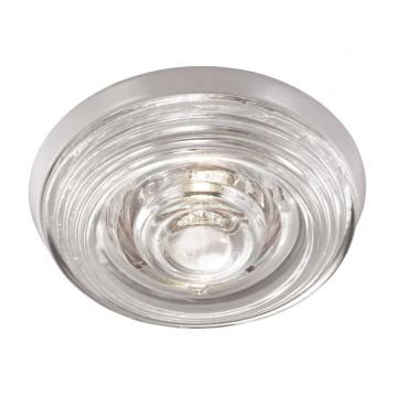Встраиваемый светильник Novotech Aqua 369815, IP65, 1xGU5.3x50W, белый, прозрачный, металл, стекло